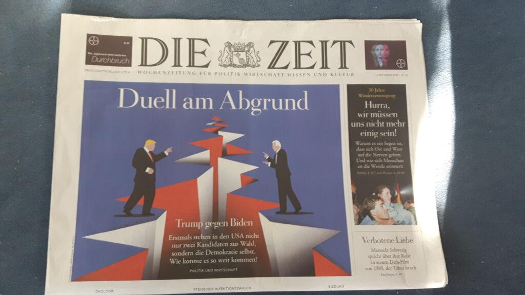 Titelseite von Die Zeit zum Tag der deutschen Einheit 2020